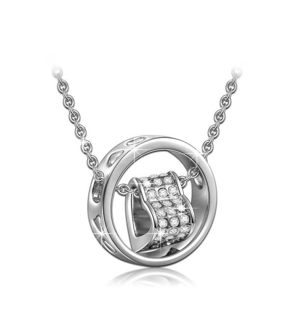 QIANSE Necklace Swarovski Crystals Anniversary - CJ11WIUV63R
