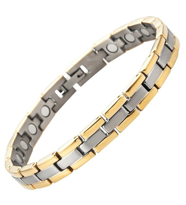 Titanium Magnetic Therapy Bracelet for Arthritis Pain Relief Adjustable with gift box by Willis Judd - CY117VFFWHF