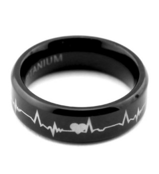 %E2%9D%A4Lifetime Matching Titanium Cardiogram Engraved in Women's Wedding & Engagement Rings