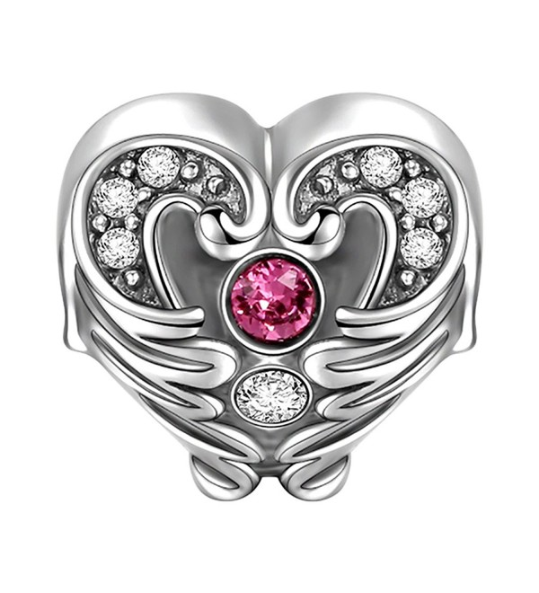 "SOUFEEL Swarovski Crystal ""Wings of Angel"" Charm 925 Sterling Silver Charms for European Bracelets - C611ACNDU3Z"