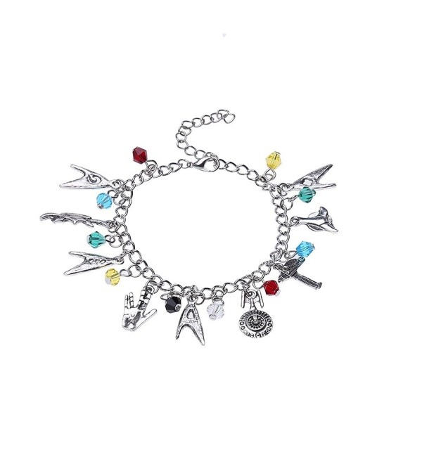 Lureme Star Trek Charm Bracelet Cosplay Jewelry (bl003121) - C7184S7GLTE