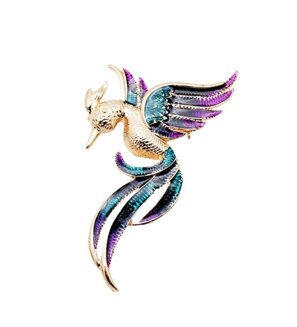 Woogge Women's Fashion Natural Insect Animal lovely Alloy Rhinestone Brooch Pins For Women Girls - Purple - C012J7RP1R5