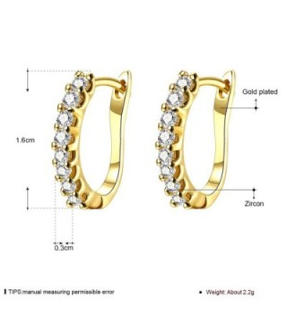 Earrings Zirconia Schtrops Leverback Closure in Women's Hoop Earrings