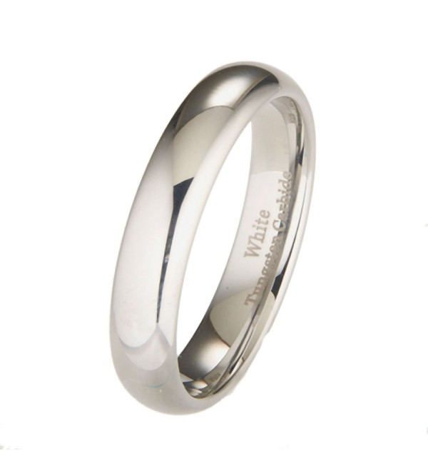 MJ 5mm White Tungsten Carbide Polished Classic Wedding Ring - CN11H9RLM47