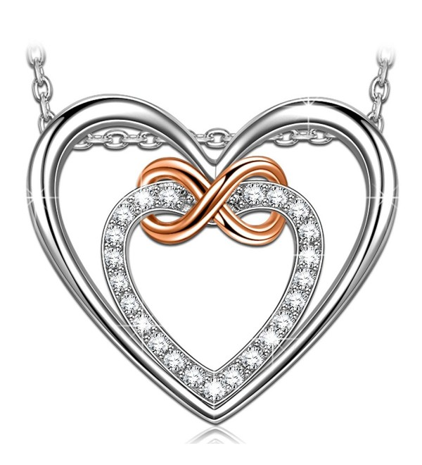 Heart Pendant Necklace PRINCESS NINA - CL1802X2S2T
