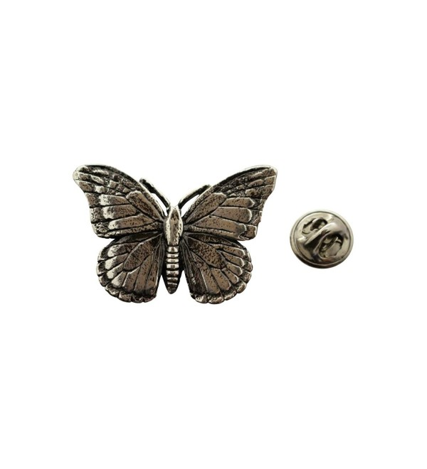 Monarch Butterfly Pin ~ Antiqued Pewter ~ Lapel Pin ~ Sarah's Treats & Treasures - CZ12N0904A3