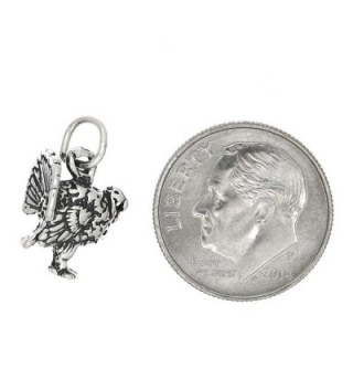 Sterling Silver Oxidized Dimensional Turkey