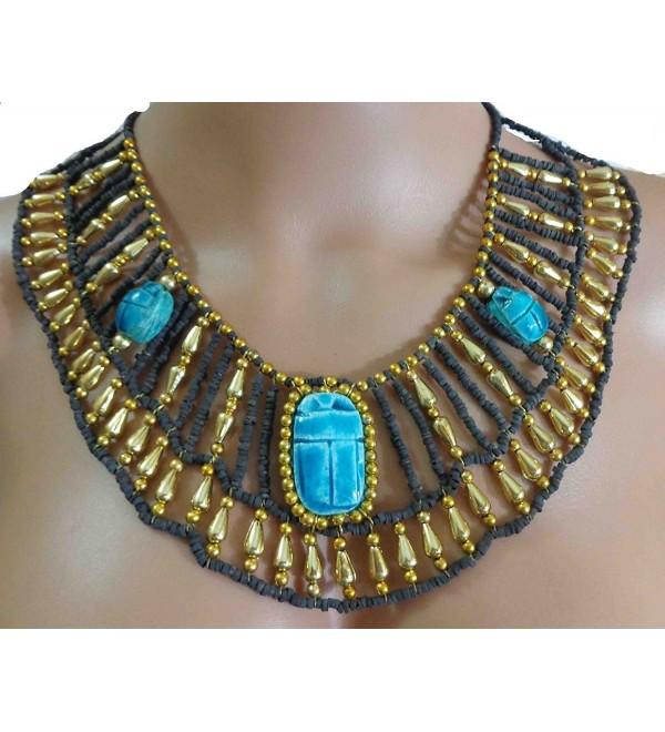 Cleopatra Nefertiti Necklace Christmas Halloween - CJ12HSVYP7T
