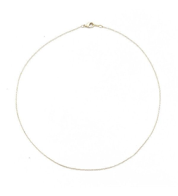 HONEYCAT 24k Gold Plated Thin Chain Choker Necklace | Minimalist- Delicate Jewelry - CB12KIIEZS3