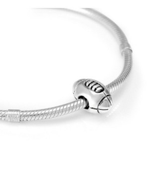 Sterling Silver Football Bead Charm