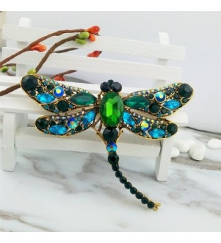 SELOVO Dragonfly Statement Brooch Antique in Women's Brooches & Pins