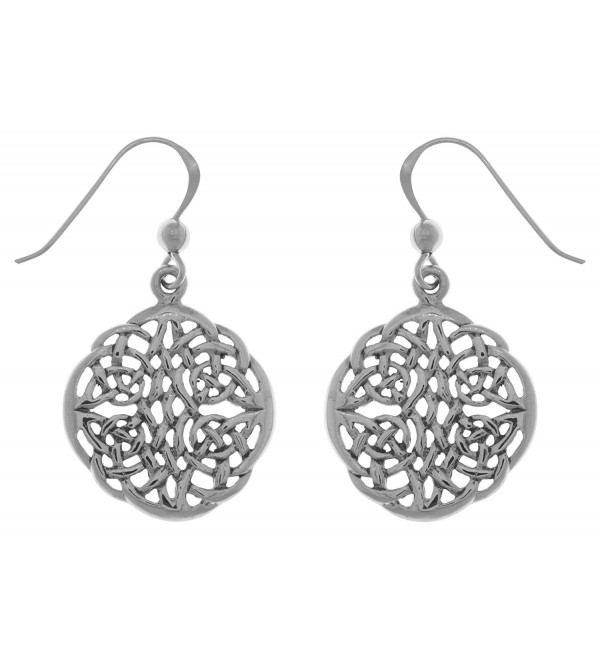 Jewelry Trends Sterling Silver Celtic Knot Round Dangle Earrings - C1120345TMD