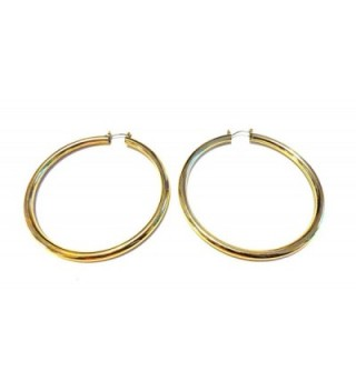 Gold Shiny Hoops Plated Earrings