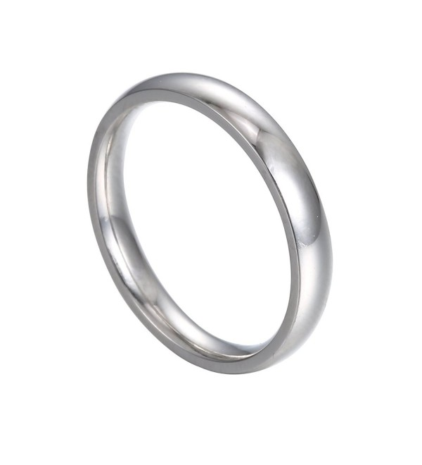 HERACULS 316L Stainless Steel Ring 3 mm Plain Wedding Engagement Band Comfort-Fit High Polish Unisex Size 3-13 - C012OBPNV5C