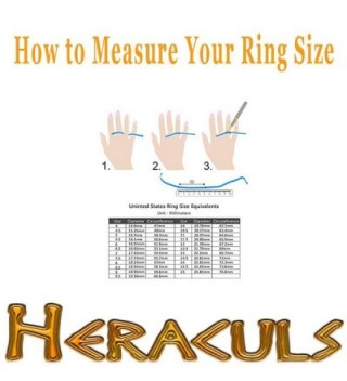 HERACULS Stainless Wedding Engagement Comfort Fit in Women's Wedding & Engagement Rings