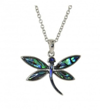 Dragonfly Inspired Abalone Necklace Earrings
