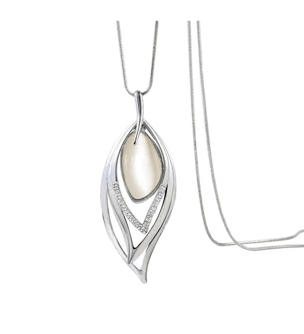 Nataliya Pearl Pendant Long Necklaces - C118842M5ET