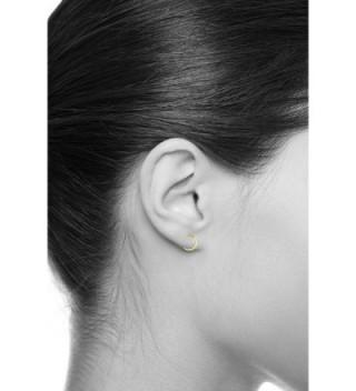 Yellow Thickness Channel Huggie Earrings in Women's Hoop Earrings