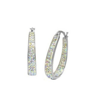 Womens Crystal Inside Out Hoop Earrings - CF120RY2LU7