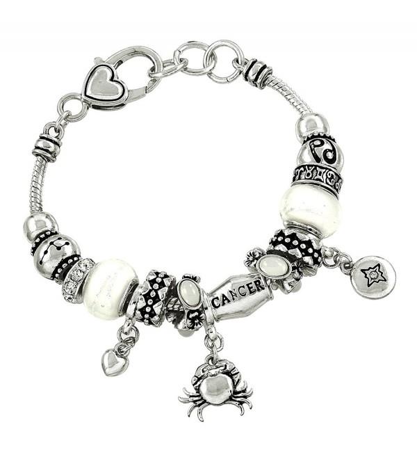 DianaL Boutique Zodiac Sign Cancer the Crab Horoscope Bracelet - C111ABJSMVF
