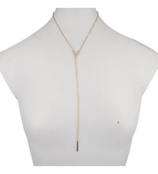 Lux Accessories Clean Pendant Necklace