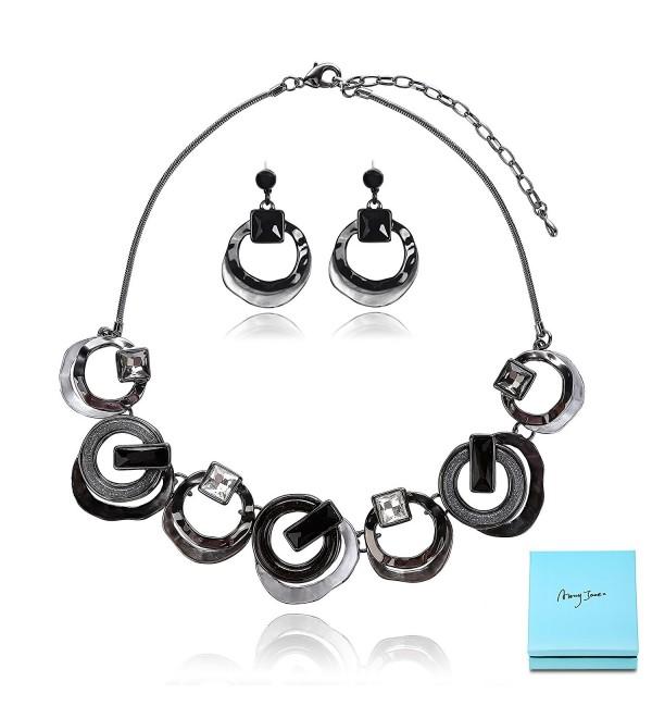 Black Jewelry Set Fashion Statement - Black - CX187K8UKU6