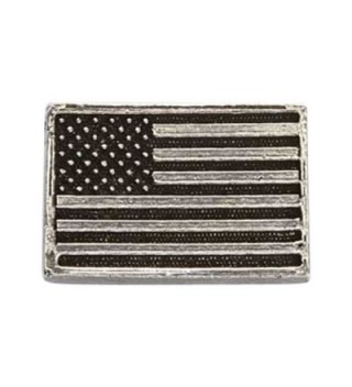 Creative Pewter Designs- Pewter American Flag Lapel Pin Brooch- Antiqued Finish- A170 - CX122XIC2Z9