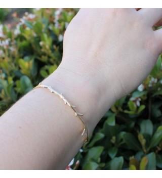 Plate Metal Minimalist Branch Bracelet in Women's Cuff Bracelets