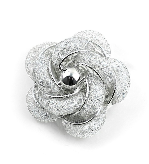 Merdia Brooch Fashinable and Refined Hollow-Out Brooch Breastpin with White color for girls ladies and women - CJ12O0F43TN