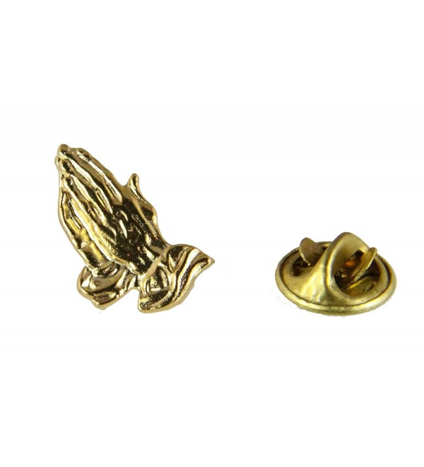 6030291 Christian Praying Hands Lapel Pin Brooch Tie Tack - C711DXNSKBJ