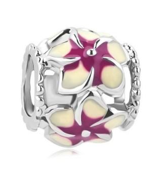 LovelyCharms Flower Charm Beads For European Bracelets - Purple - C0188DAMYOS