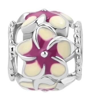 LovelyCharms Flower European Bracelets Purple