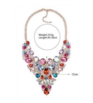 Statement Necklaces Crystal Multicolor Waterdrop