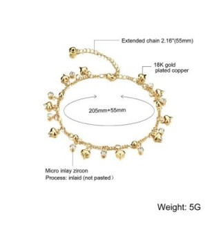 Fate Love Jewelry Crystal Adjustable in Women's Anklets
