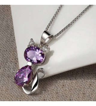 DreamsEden Amethyst Pendant Necklace Greeting