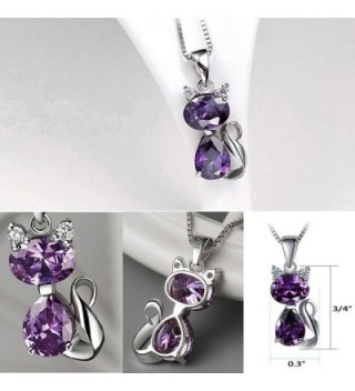 DreamsEden Amethyst Pendant Necklace Greeting in Women's Jewelry Sets