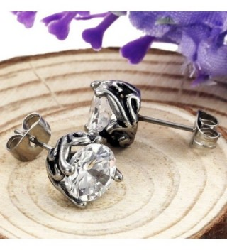 Elove Jewelry Stainless Zirconia Earrings in Women's Stud Earrings