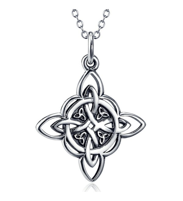 "YFN Sterling Silver Celtic Triquetra Knot Pendant Necklace 18"" (Celtic Luck Necklaces) - CC12H4EEC1T"