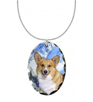 Canine Designs Pembroke Welsh Corgi Scalloped Edge Oval Pendant - C51180OHXCD