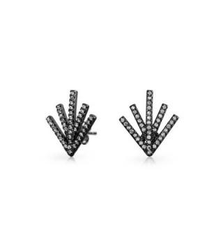 Bling Jewelry Double Rhodium Earrings