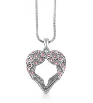 Crystal Guardian Shaped Pendant Necklace in Women's Pendants