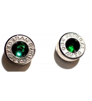 caliber Earrings Stainless Emerald crystal in Women's Stud Earrings