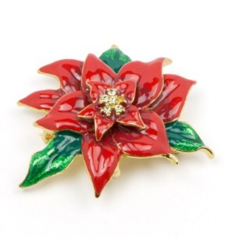 Akianna Swarovski Element Crystals Poinsettia