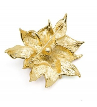 Akianna Swarovski Element Crystals Poinsettia in Women's Brooches & Pins