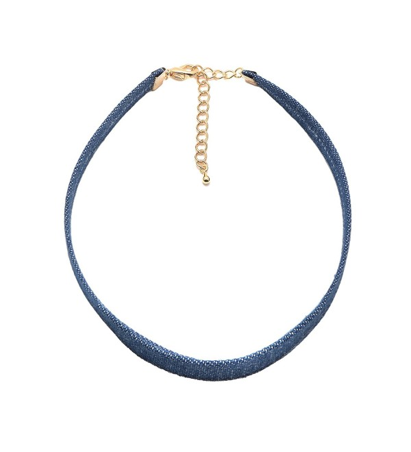 Spinningdaisy 90's Plain Denim Choker - CX12MZTEIVL