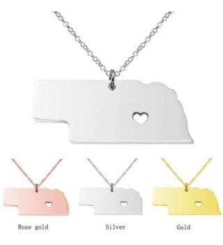 Stainless Pendant Necklace Nebraska NE in Women's Pendants