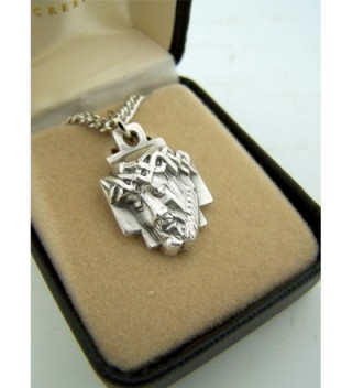 Silver Toned Crown Thorns Christ in Women's Pendants
