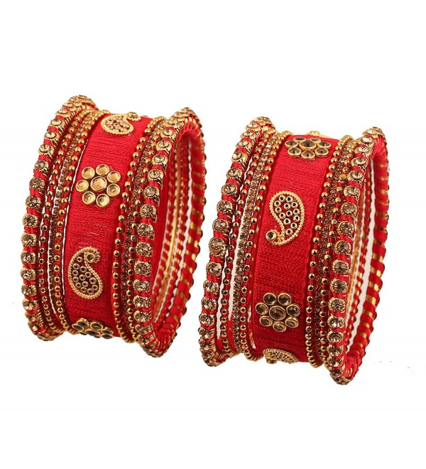 Touchstone Collection Bollywood Rhinestone Bracelets - 2.8 - CZ187GWHATD