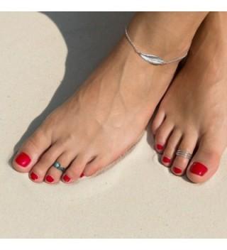 Crown Jewelry Sideways Feather Anklet