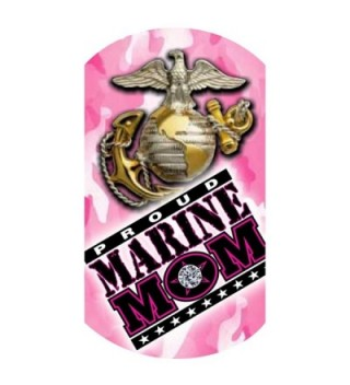Marine Glitter Necklace Silver Finish
